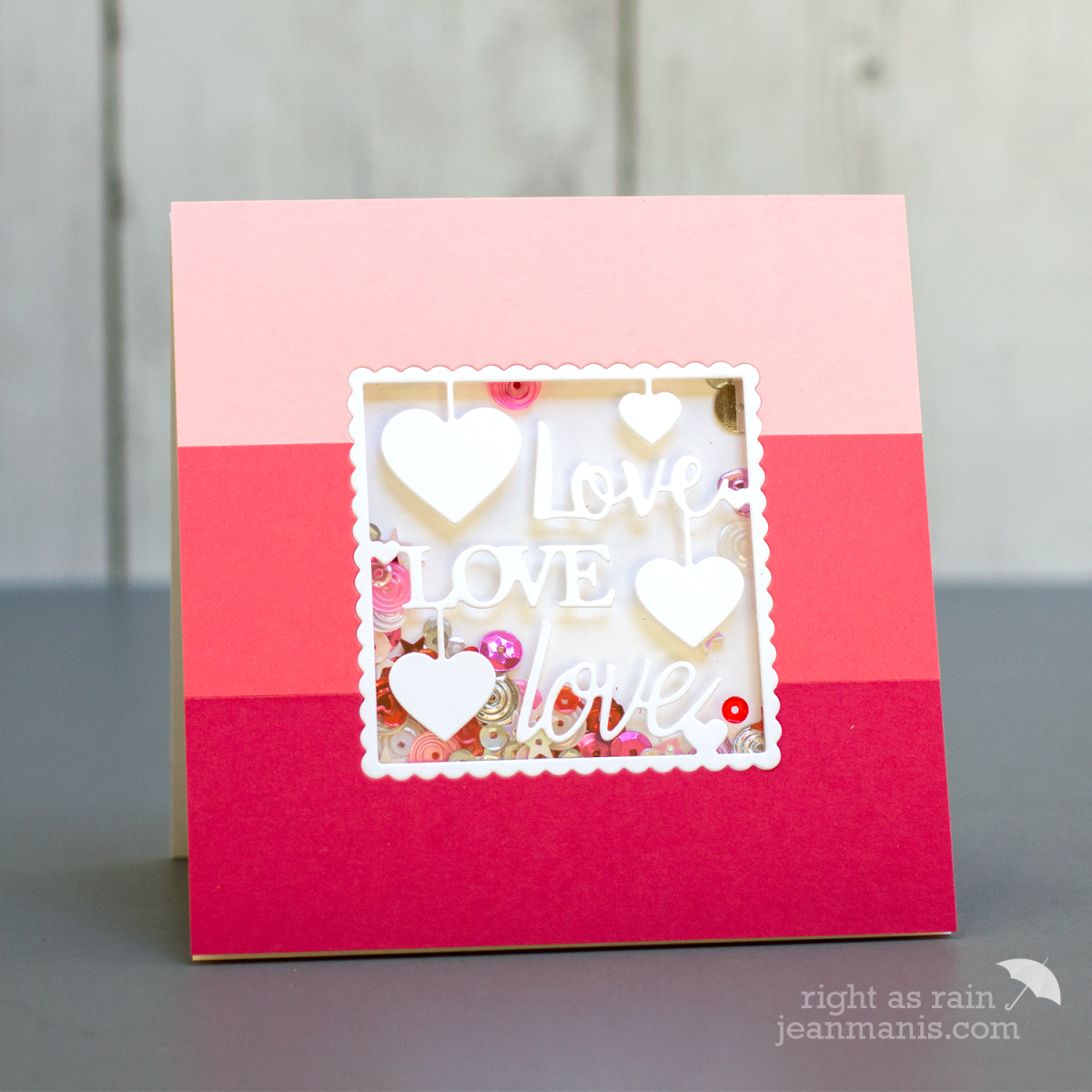 Penny Black Simplicity Triple Love Die – 2 Versions