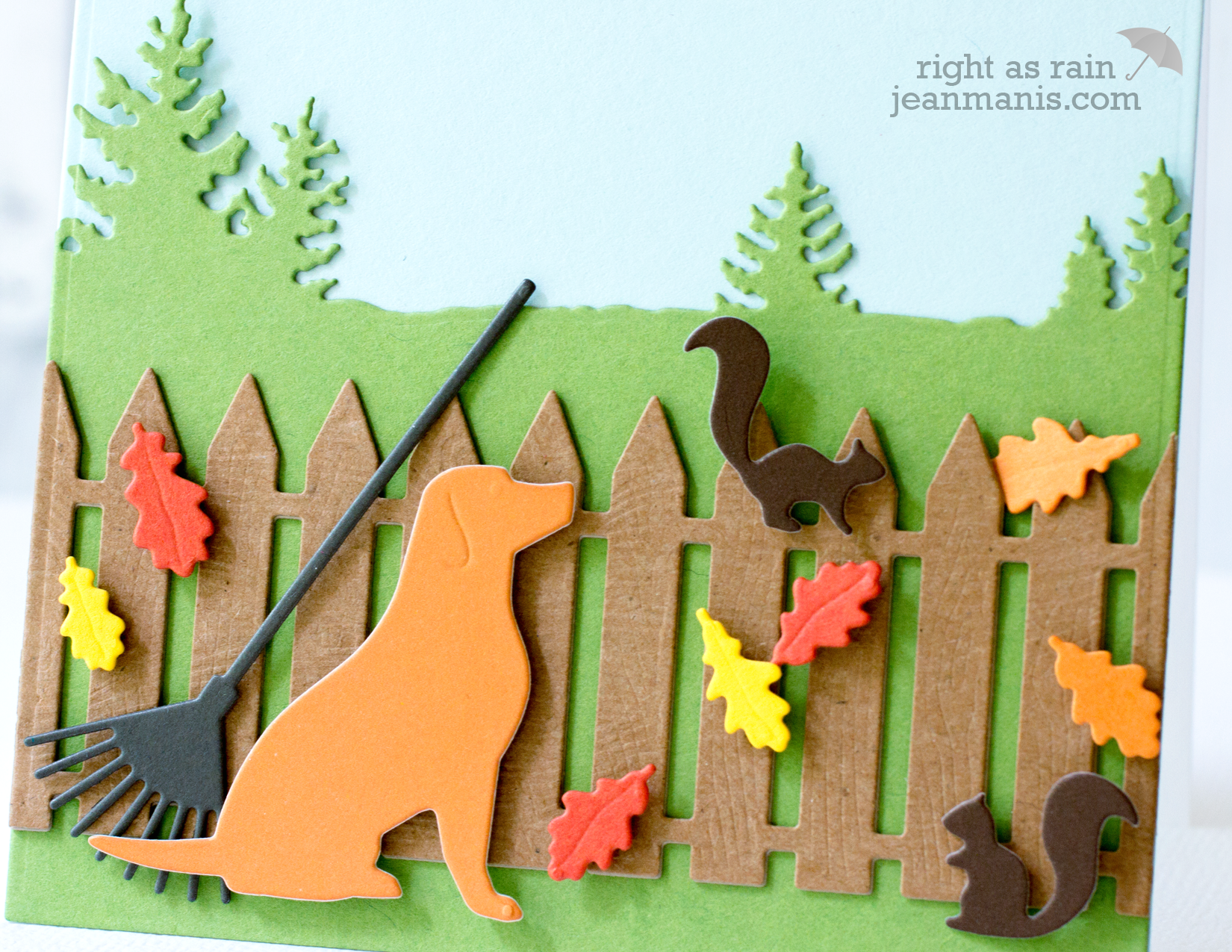 Hello Fall Die-Cut Scene