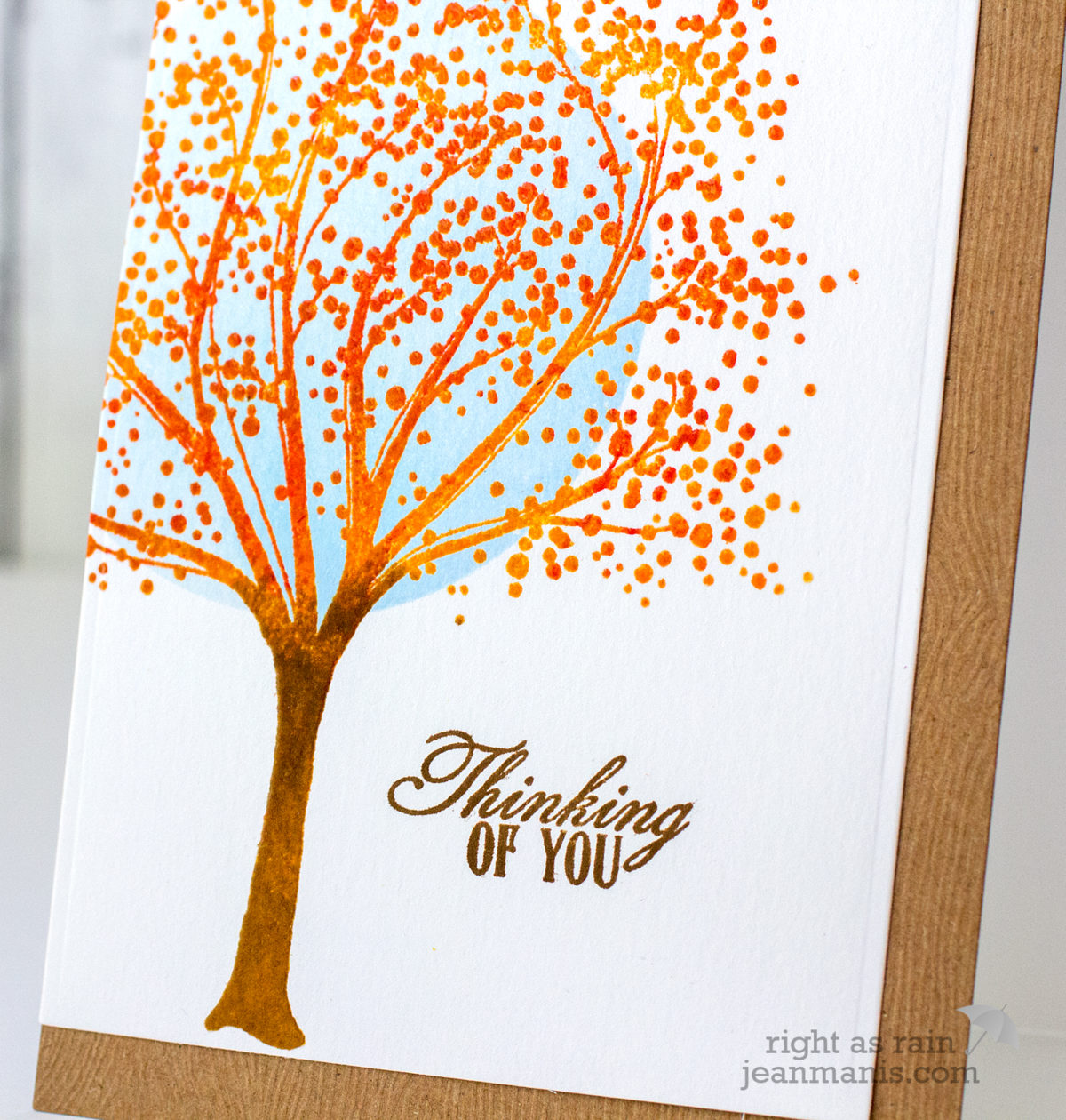 PB Simplicity – Thinking of You Fall-Themed Card