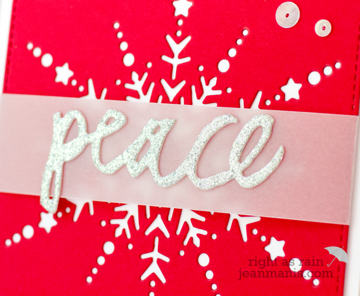 Peace Snowflake – Die-cut Holiday Card