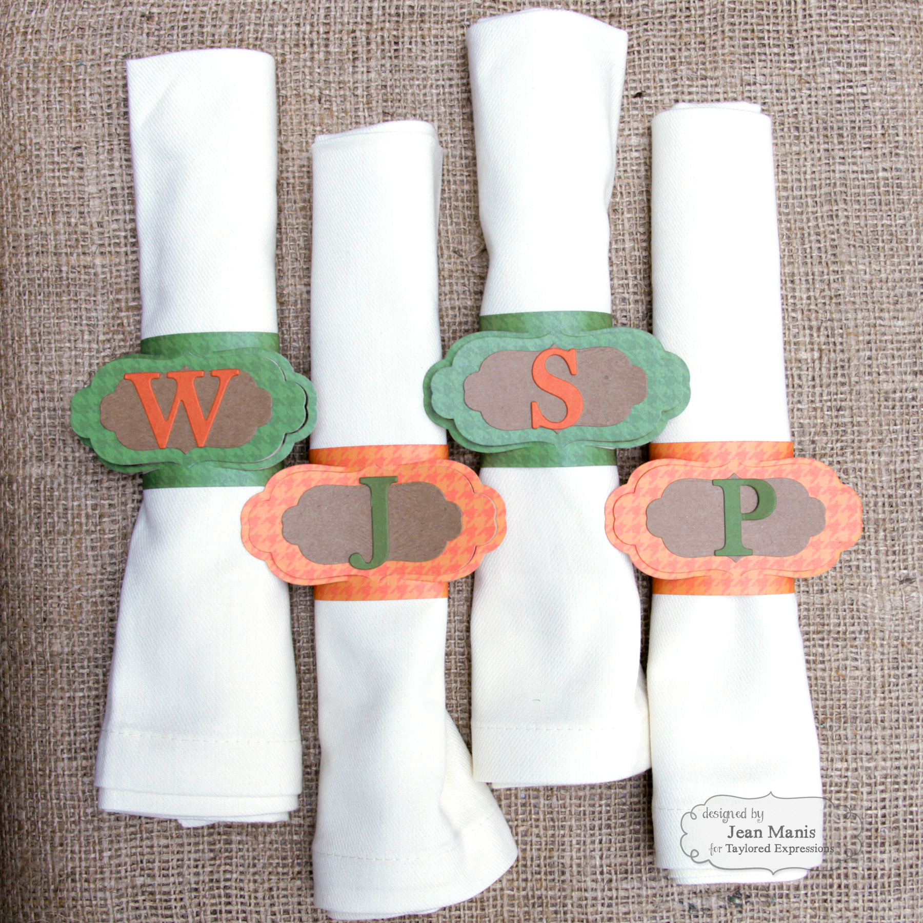 Taylored Expressions Napkin Rings