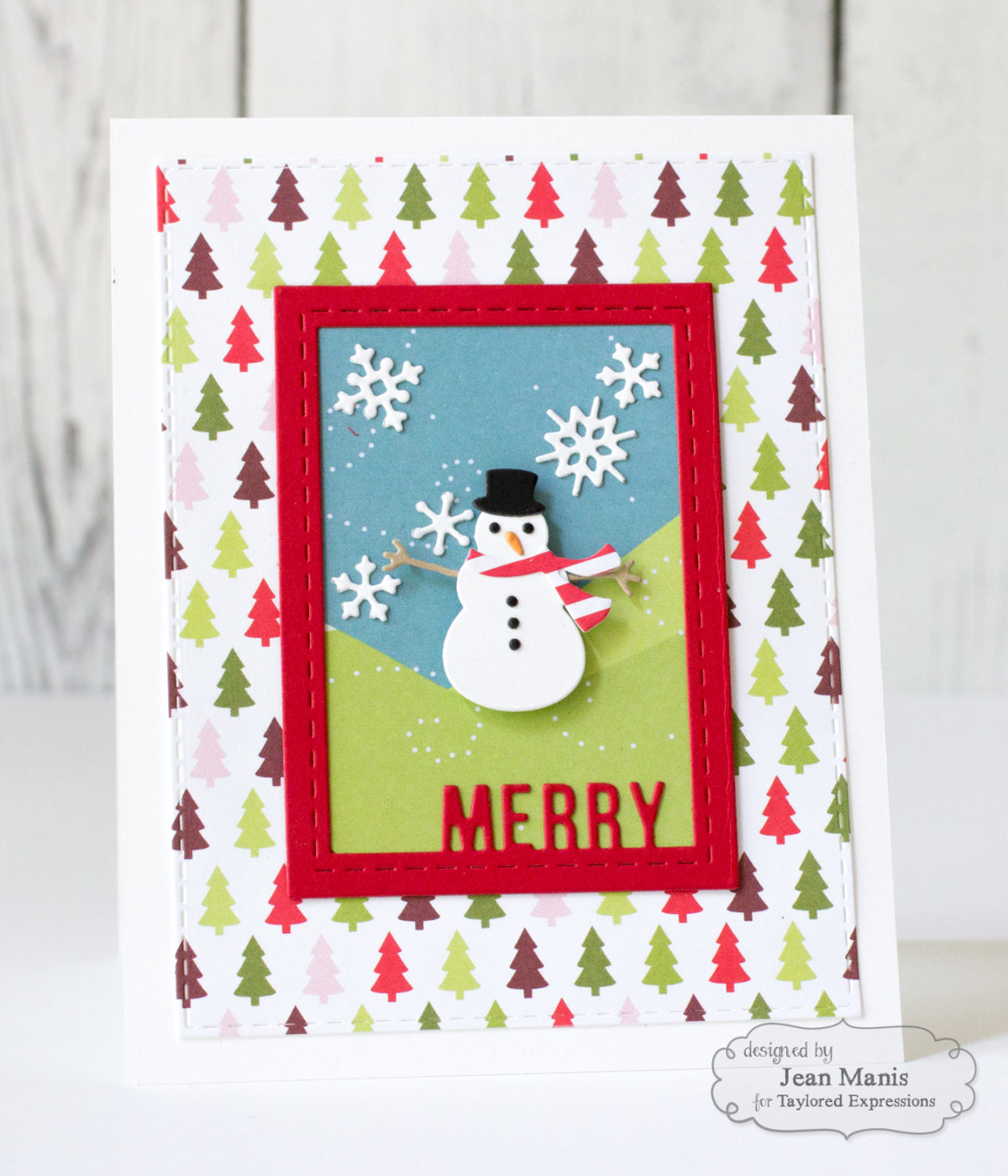 Taylored Expressions Patterned Paper Die-Cut Holiday Scene