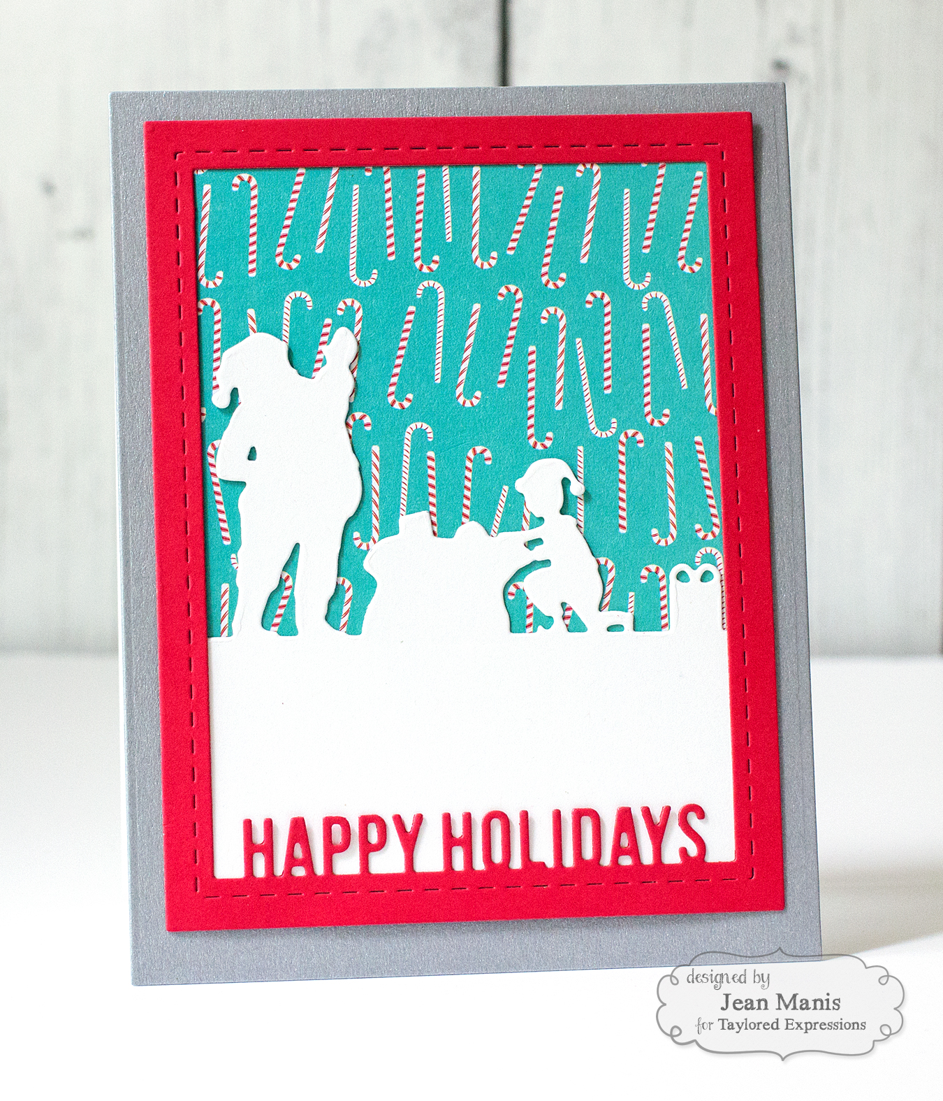 TE Vintage/Retro Christmas Die Cut Card