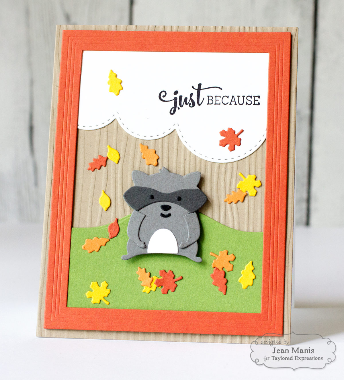 Just Because – Taylored Expressions Die-Cut Fall Scene