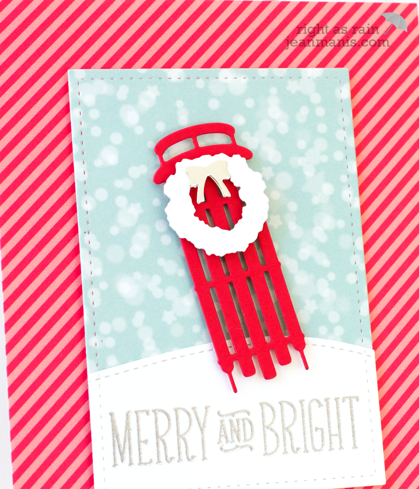 CAS Christmas Die-Cut Card