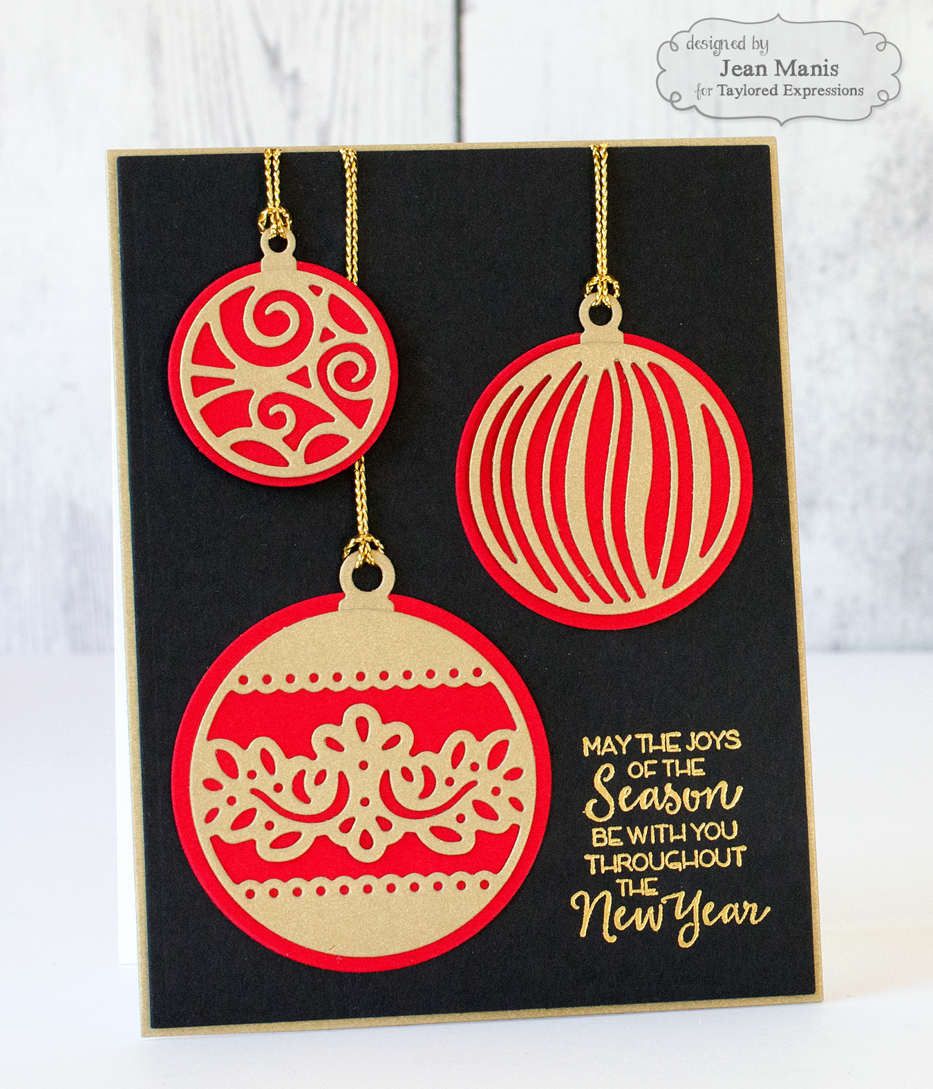 Drama christmas ornaments - I Cut The Ornament Overlays And Ornament Accessories From Gold Cardstock I Heat Embossed The Ornamental Sentiment With Gold Metallic Powder On Oreo