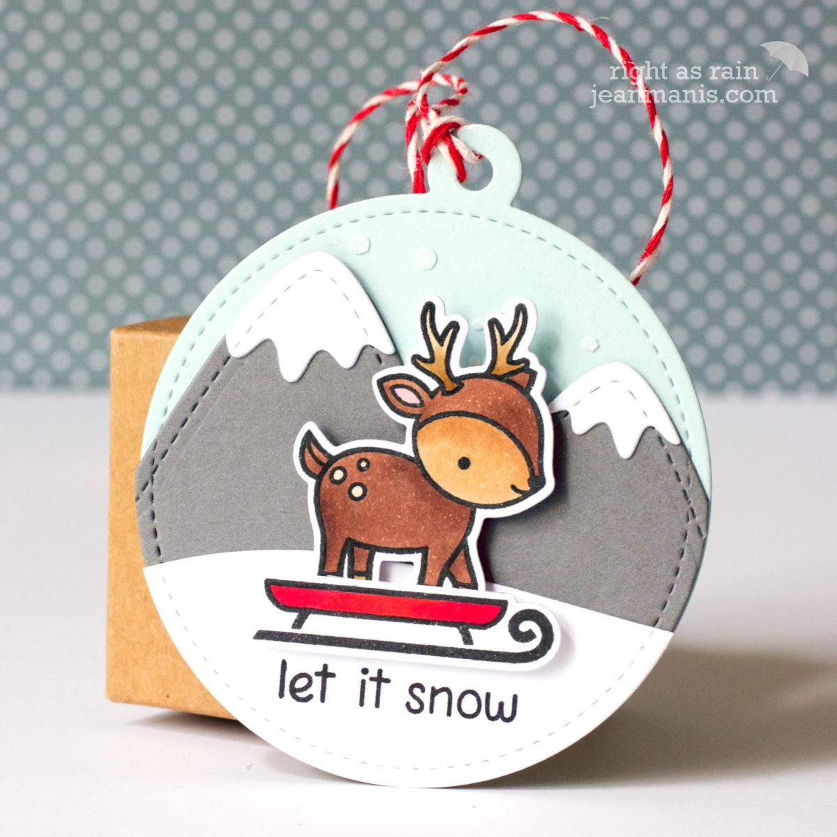 Lawn Fawn – Let It Snow Tag