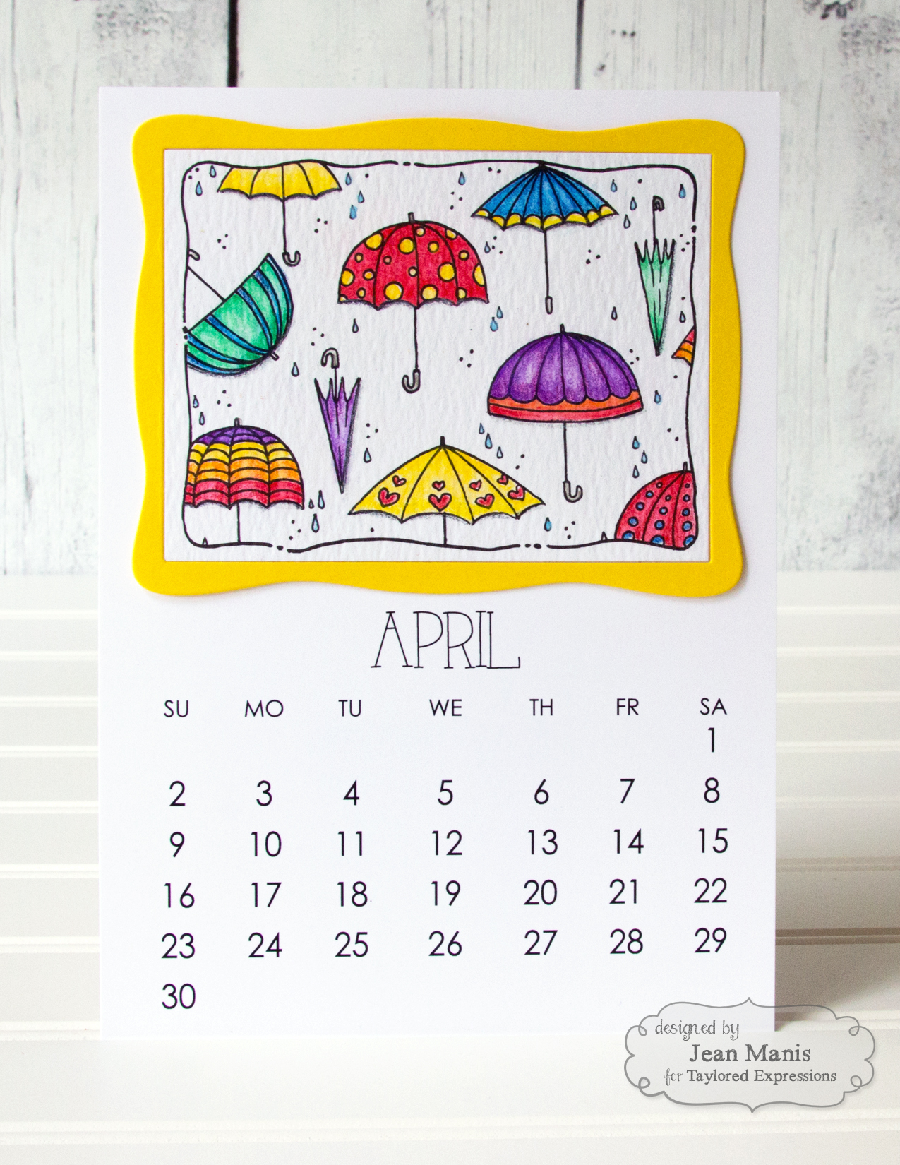 TE Watercolor April 2017 Calendar
