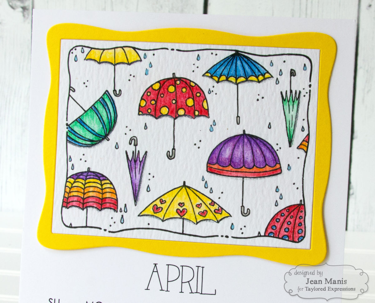 Taylored Expressions April Watercolored Calendar