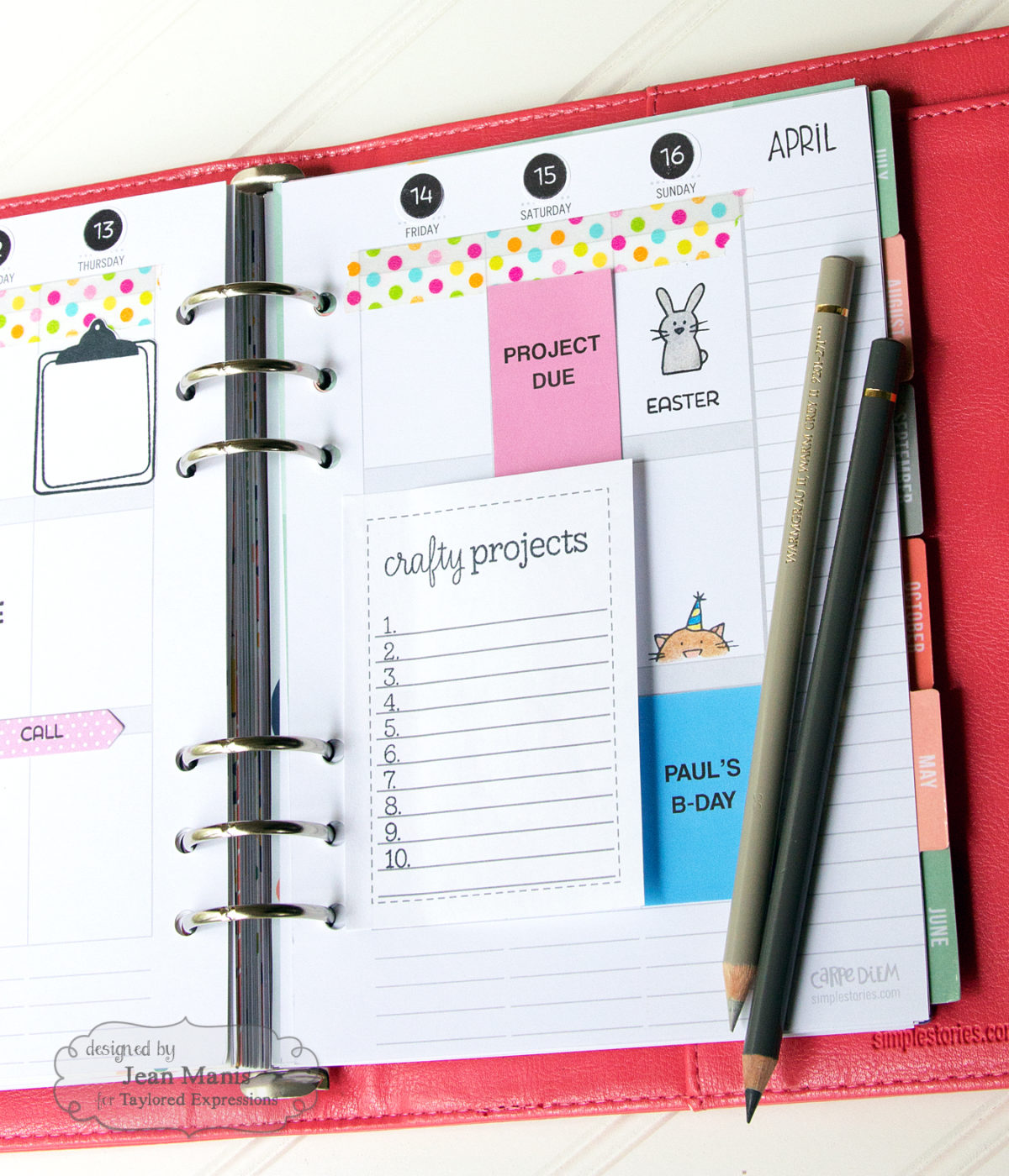 Clean and Simple Planner Pages