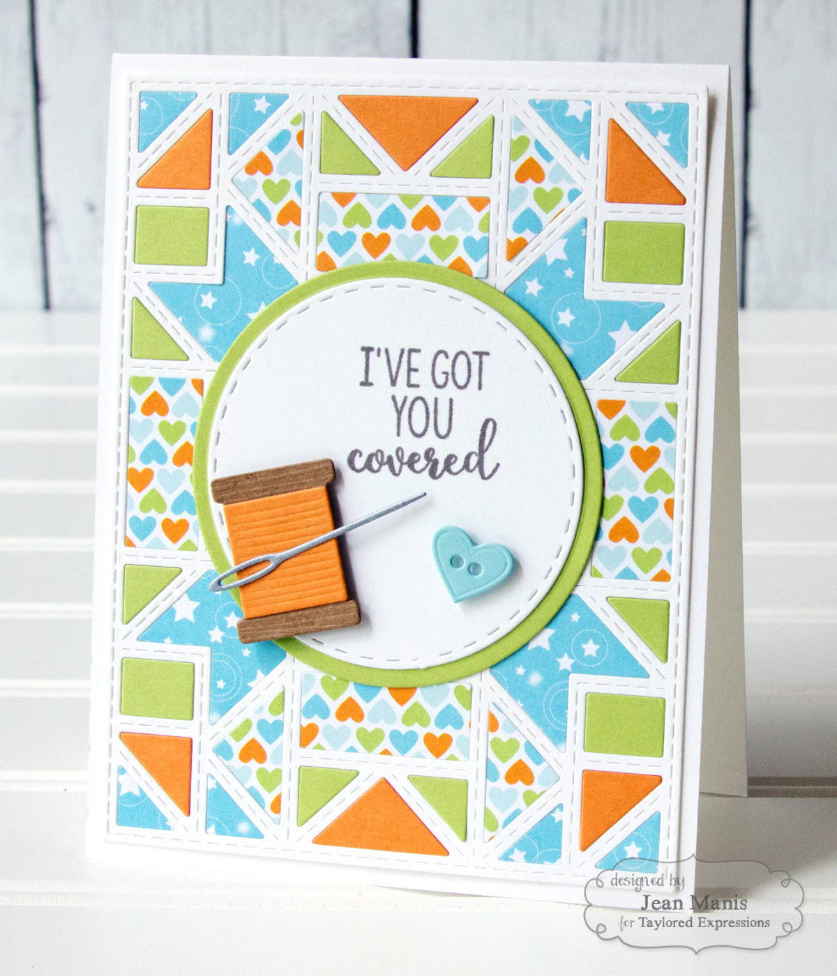 Taylored Expressions Quilt-Inspired Friendship Card