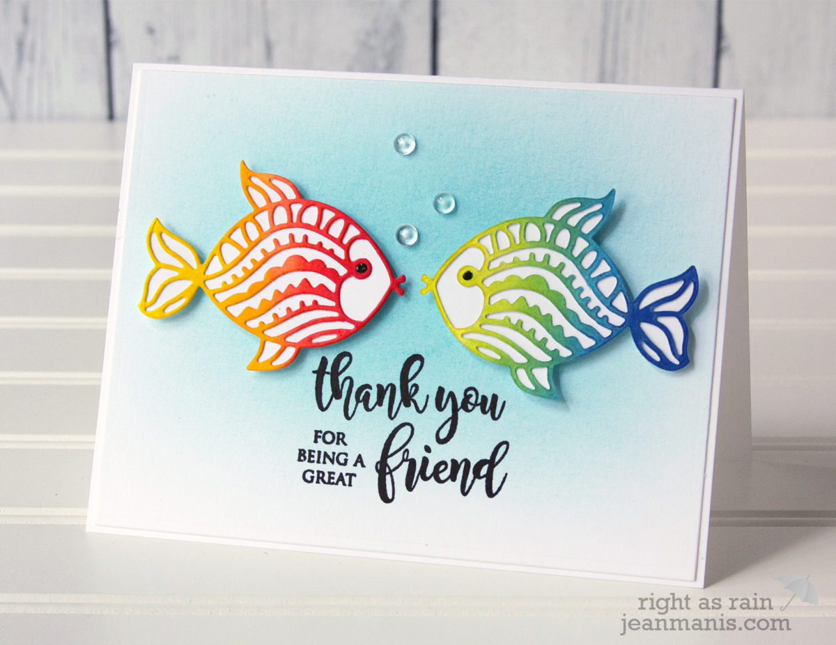 Penny Black Simplicity – Colorful CAS Die-cut Fish