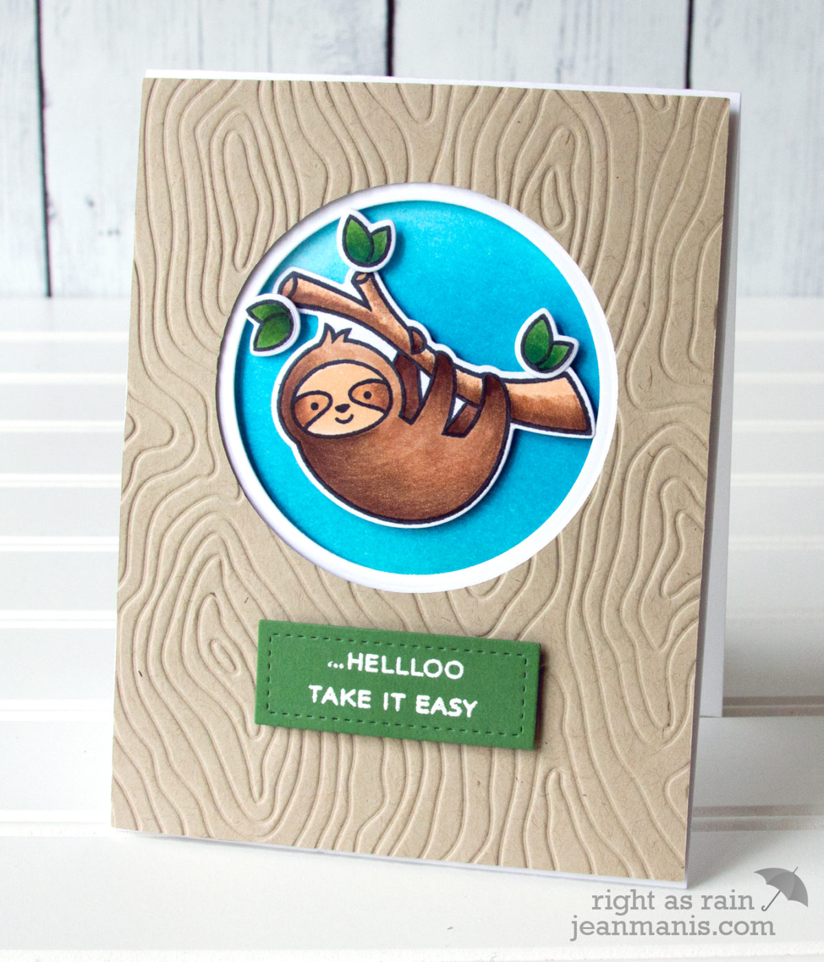 Take It Easy – Lawn Fawn Hang in There