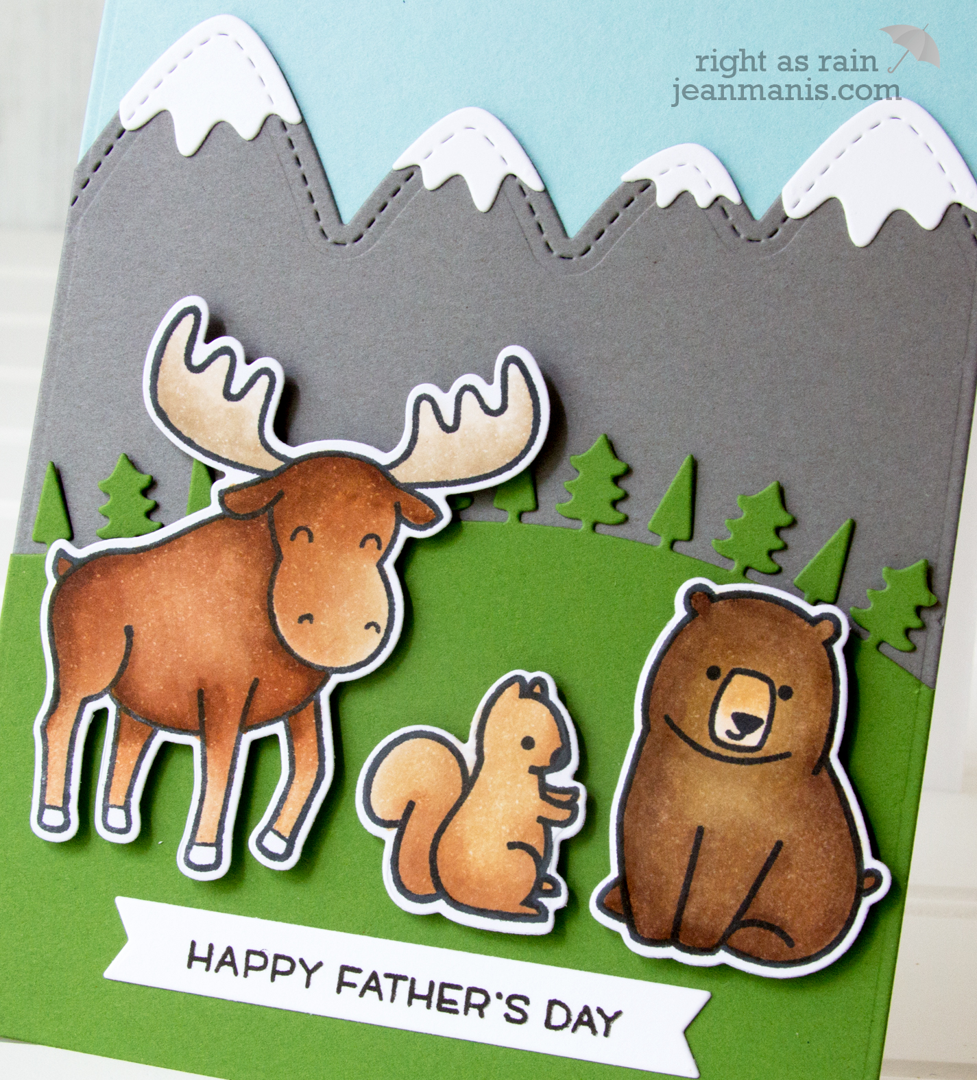 Lawn Fawn Father's Day Card