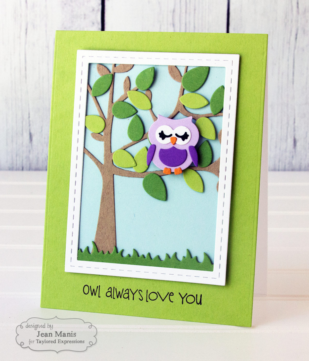 Taylored Expressions Spring Owl Love Card