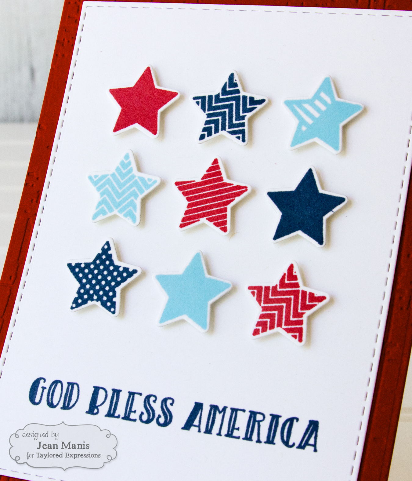 Taylored Expressions Patriotic Card