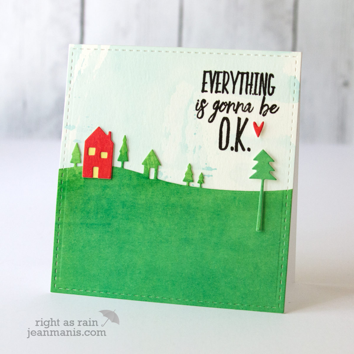 Die-Cut Encouragement Card
