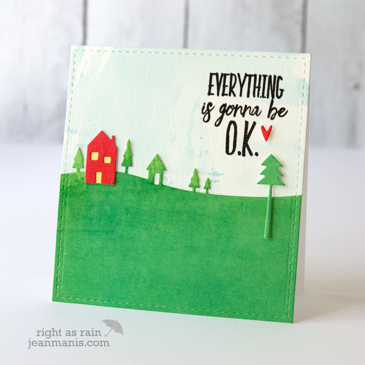 CAS Die-Cut Encouragement Card