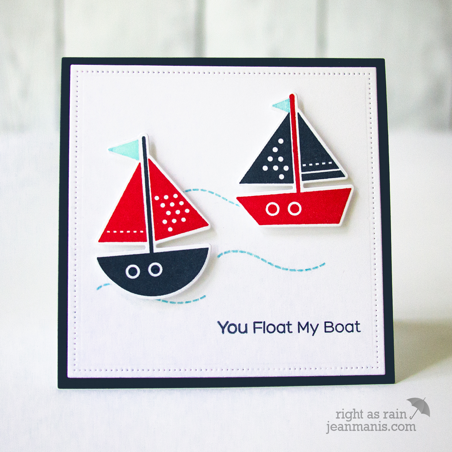 MFT Stamps - CAS Nautical Card