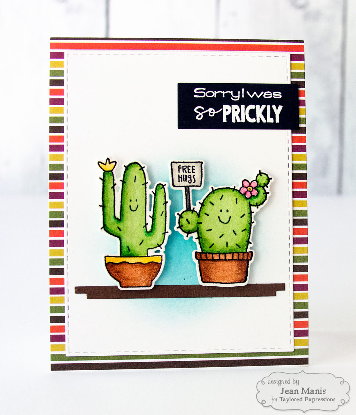 Taylored Expressions – Cactus Apology Card