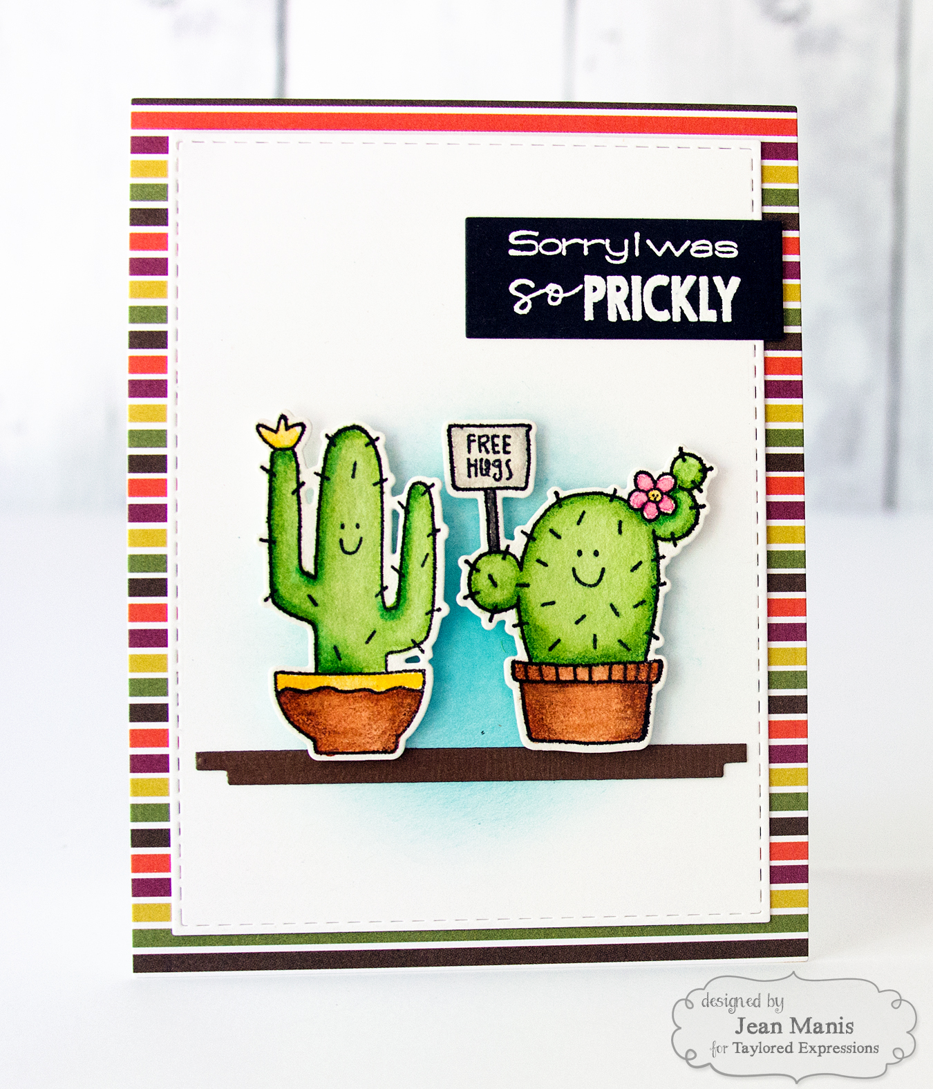 Taylored Expressions Cactus Apology Card