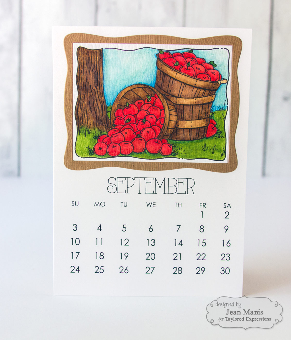 Taylored Expressions – September and October Watercolored Calendar Panels