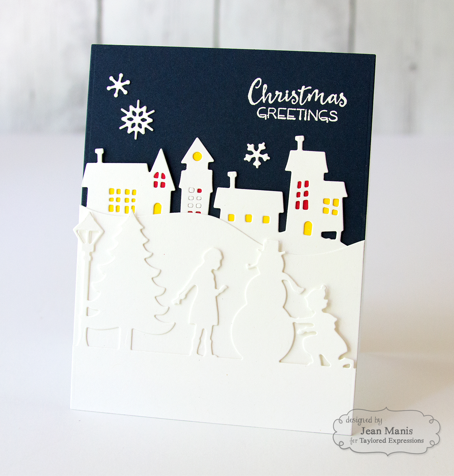 Taylored Expressions Ghost Town Border Christmas Card