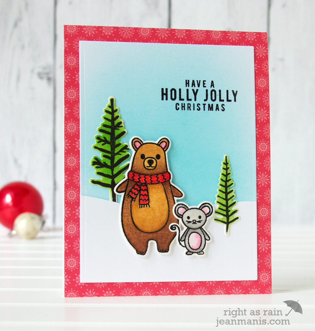 Hero Arts Watercolored Holiday Animals