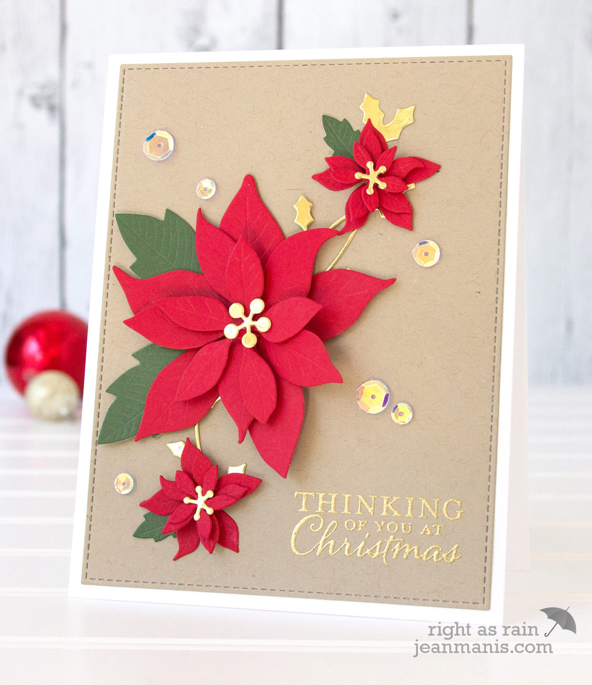Merry Monday Christmas Challenge 264 – Kraft and Red