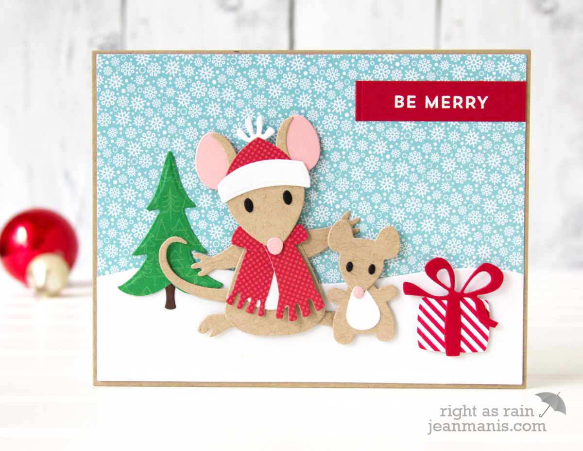 Be Merry – Die-cut Holiday Mice