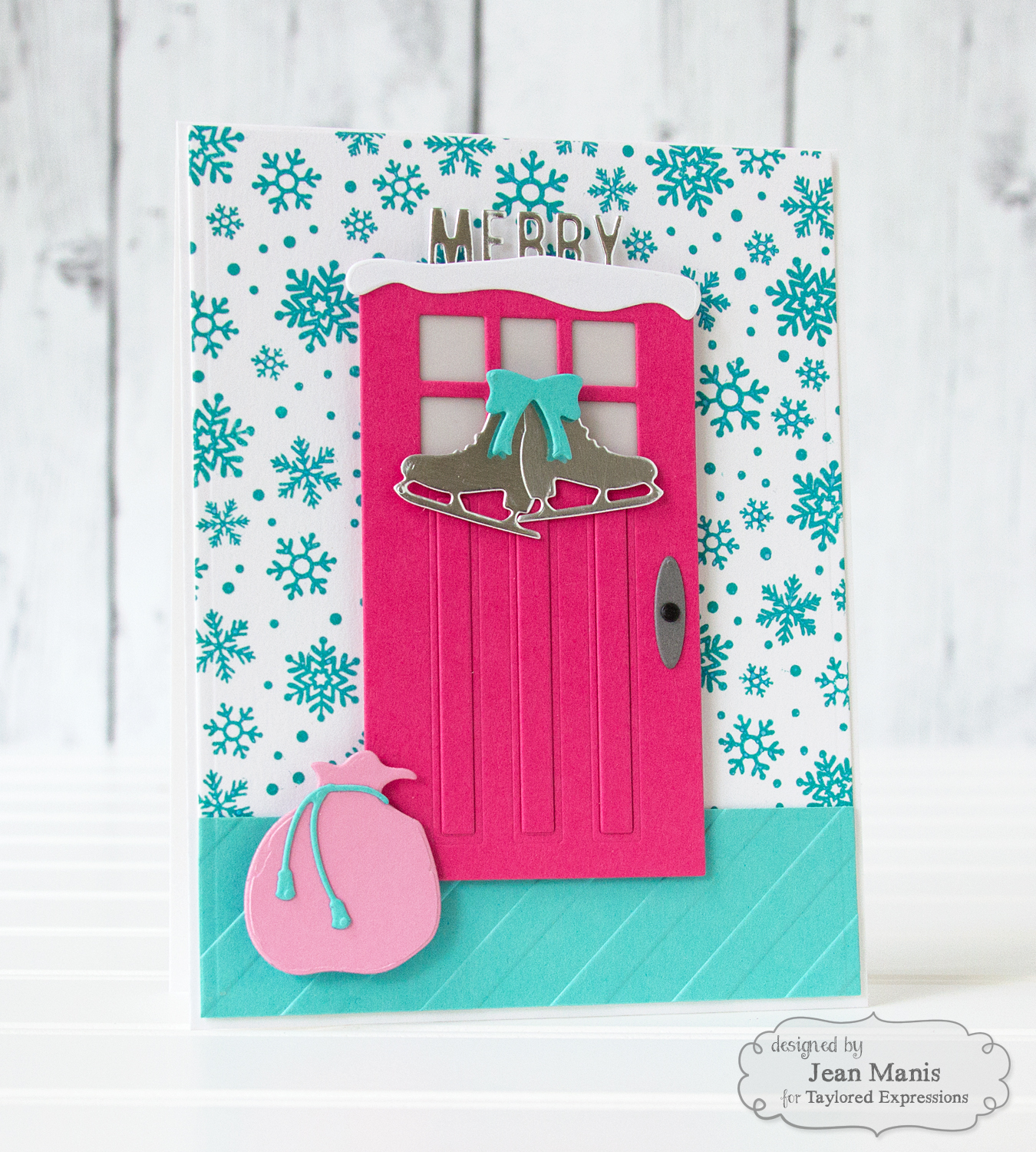 TE Merry & Bright Holiday Die-cut Door