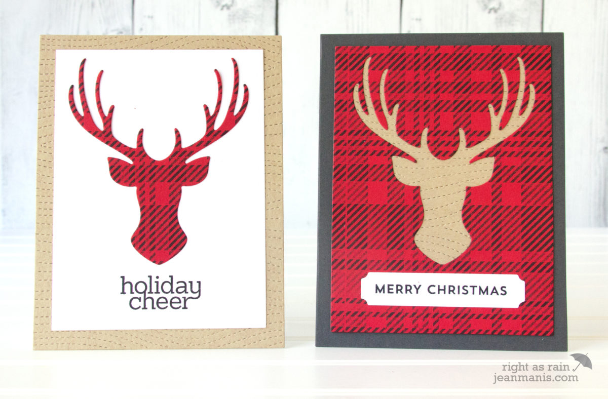 Buffalo Check Masculine Christmas Cards