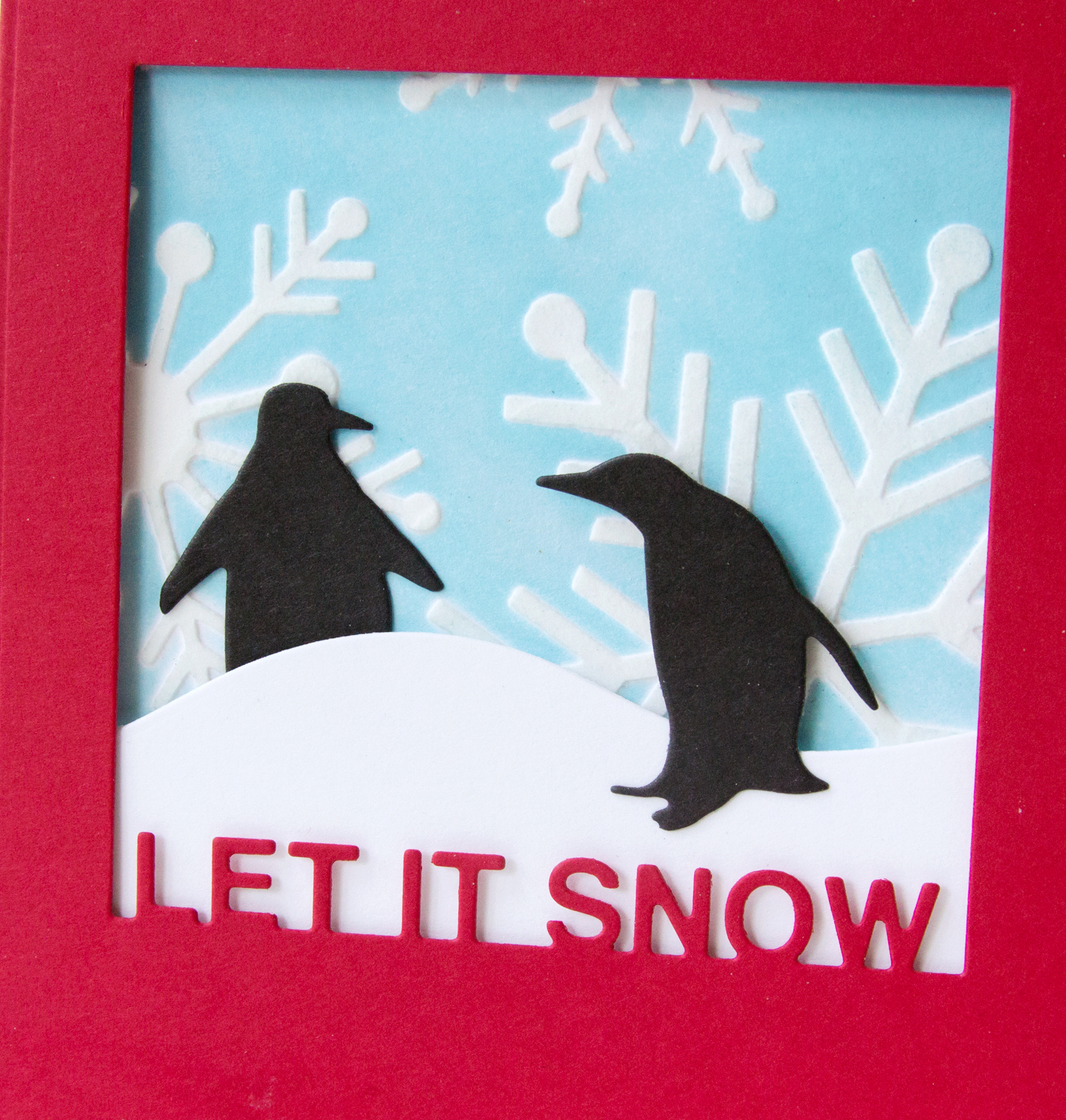 Let It Snow - Echo Park Snowflakes #1 Stencil