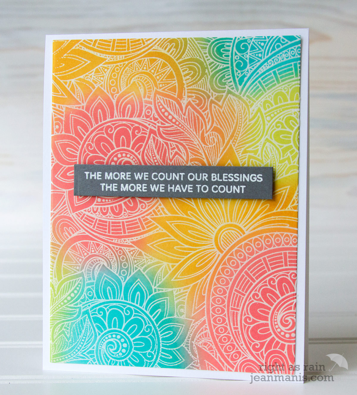 Simon Says Stamp Ornate Background – Count Our Blessings