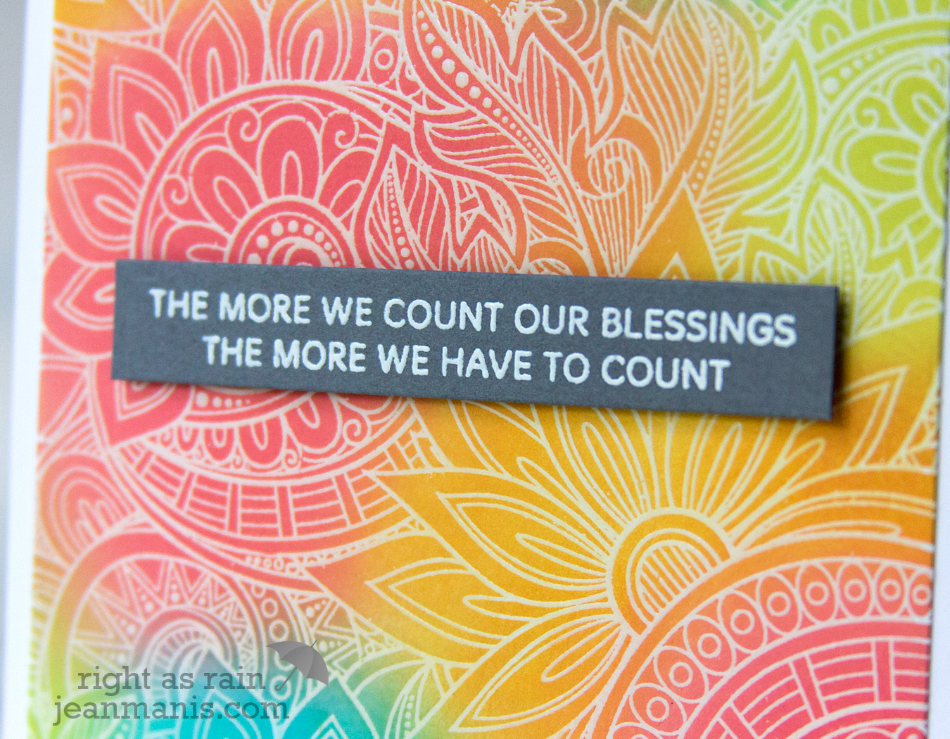 Simon Says Stamp Ornate Background - Count Our Blessings