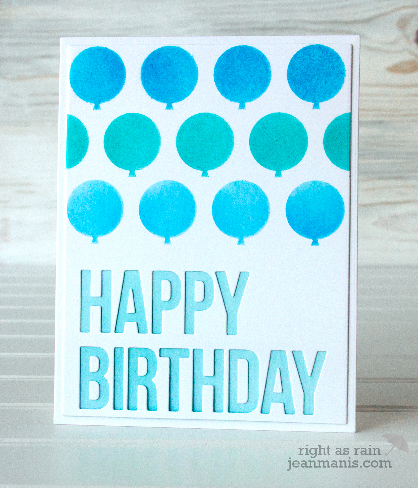 Happy Birthday Card - Echo Park Balloons Stencil