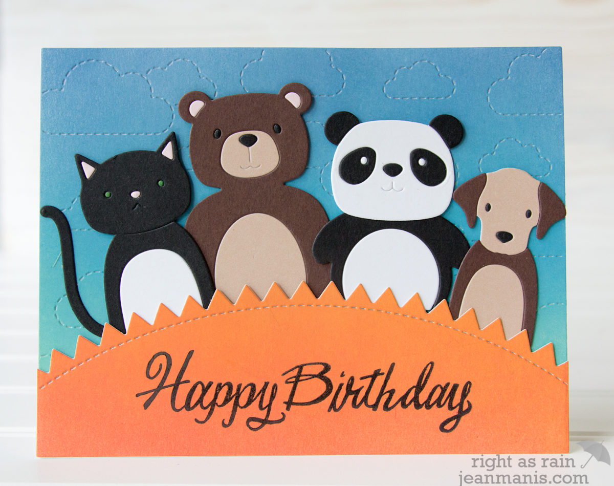 Happy Birthday – Simon Says Stamp Picture Book Animals