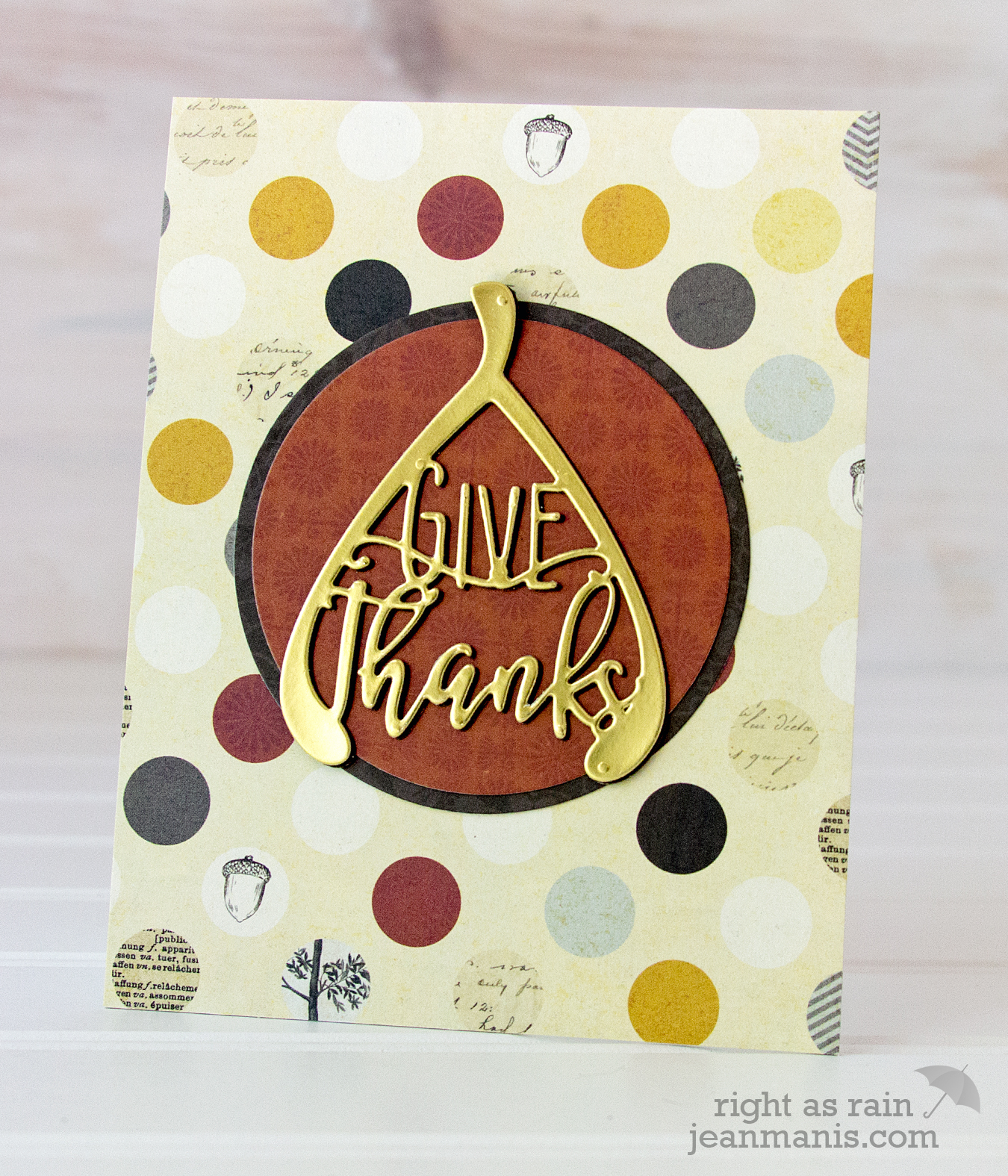 Spellbinders October Small Die of the Month Kit – Right as Rain