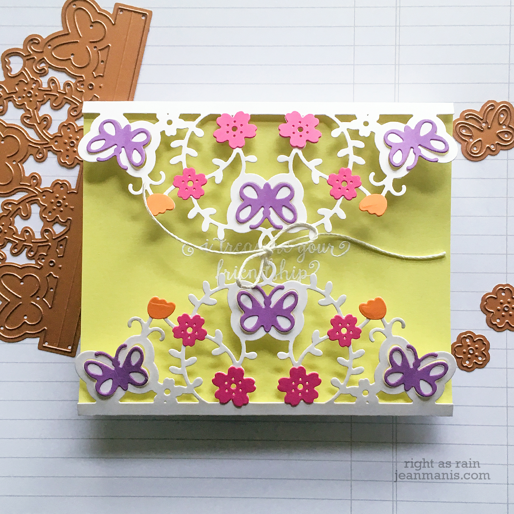 Spellbinders February 2019 Small Die of the Month – Right as Rain